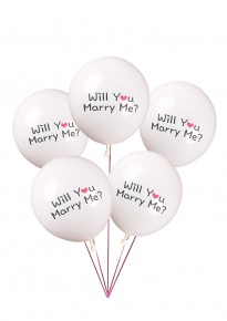 'Will You Marry Me?' Balloons - White (5pcs/pack)