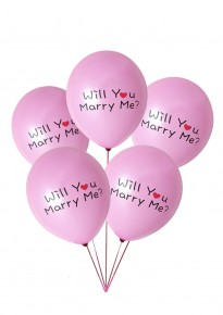 'Will You Marry Me?' Balloons - Pink (5pcs/pack)