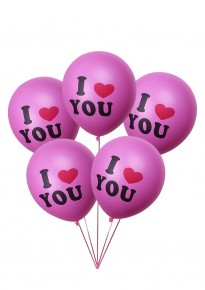 'I Love You' Balloons - Pink (5pcs/pack)