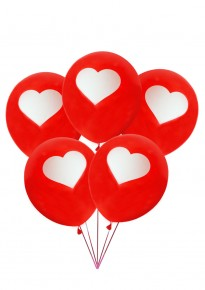 Single Heart Balloons - Red (5pcs/pack)