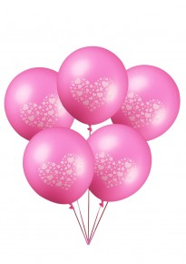 Little Hearts Balloons - Pink (5pcs/pack)