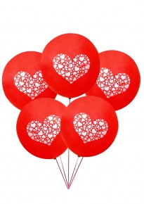 Little Hearts Balloons - Red (5pcs/pack)