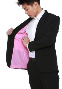 Off-the-rack Tailored Black Blazer w/ Pink Lining