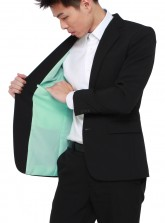 Off-the-rack Tailored Black Blazer w/ Tiffany Lining