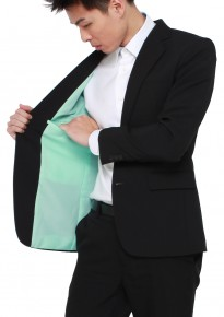 Off-the-rack Tailored Black Blazer w/ Tiffany Lining