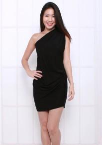 Chloe Toga Dress - Black