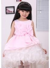 Pink Ribbon Ruffled Princess Dress