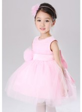 Chiffon Fluffy Princess Dress - Pink