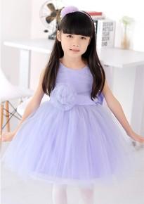 Chiffon Fluffy Princess Dress - Lavender