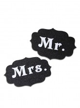 Mr. and Mrs. Tag - Glitter Black