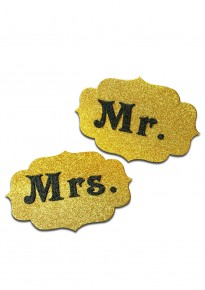 Mr. and Mrs. Tag - Glitter Gold