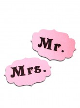 Mr. and Mrs. Tag - Glitter Pink