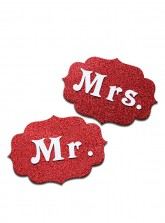 Mr. and Mrs. Tag - Glitter Red