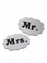 Mr. and Mrs. Tag - Glitter Silver