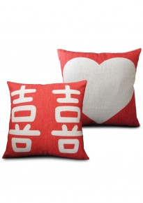 Modern Shuang Xi + Love Pillow Cover Set