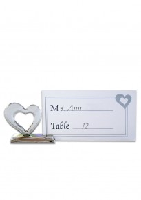 Heart-Shaped Place Card Clip Holder (4pcs/set)