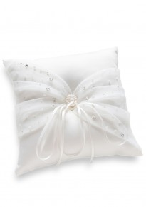 Hand-Sewn Beads and Crystals Wedding Ring Pillow