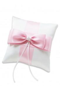 Pink Ribbon Bridal Ring Pillow