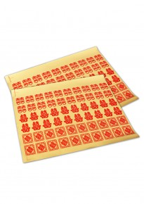 Red Double Happiness Transparent Adhesive Stickers - Mix