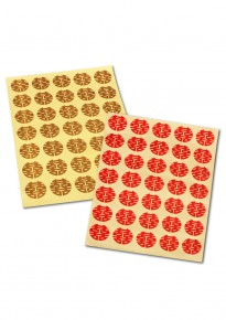 Round Double Happiness Adhesive Stickers - Big