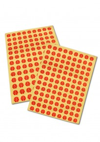 Round Double Happiness Adhesive Stickers - Small