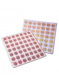 Shiny Double Happiness Transparent Round Adhesive Stickers