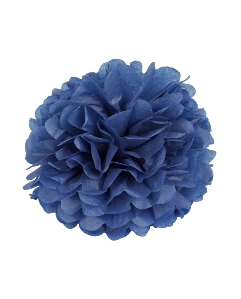 "Paper Flower Pom Pom - Dark Blue (Available in 6"" / 8"" / 10"" / 12"" / 14"" / 16"")"