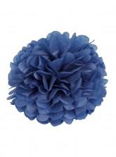 "Paper Flower Pom Pom - Dark Blue (Available in 6"" / 8"" / 10"" / 12"" / 14"" / 16"")"