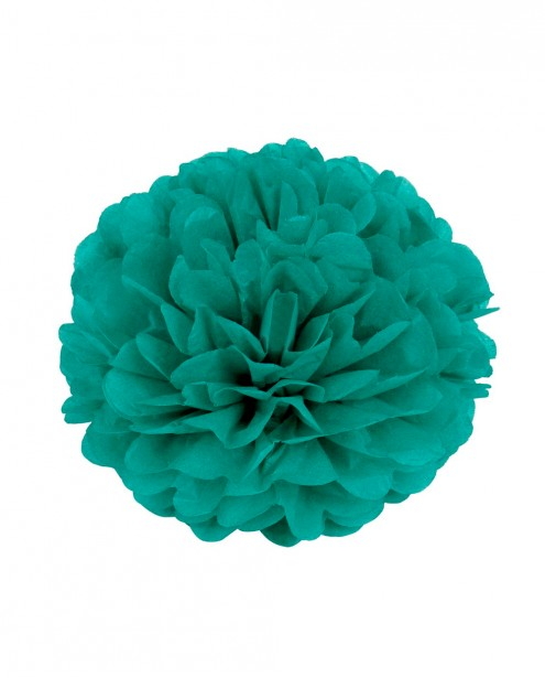 "Paper Flower Pom Pom - Dark Green (Available in 6"" / 8"" / 10"" / 12"" / 14"" / 16"")"