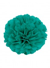 "Paper Flower Pom Pom - Dark Green (Available in 6"" / 8"" / 10"" / 12"" / 14"" / 16"")"
