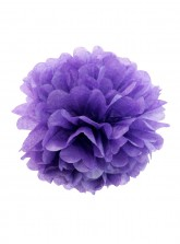 "Paper Flower Pom Pom - Dark Purple (Available in 6"" / 8"" / 10"" / 12"" / 14"" / 16"")"