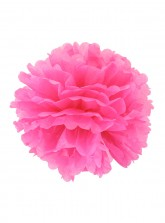 "Paper Flower Pom Pom - Fuschia (Available in 6"" / 8"" / 10"" / 12"" / 14"" / 16"")"