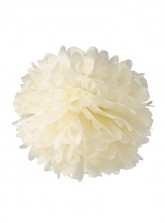 "Paper Flower Pom Pom - Ivory (Available in 6"" / 8"" / 10"" / 12"" / 14"" / 16"")"