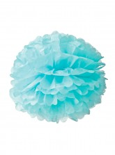 "Paper Flower Pom Pom - Light Blue (Available in 6"" / 8"" / 10"" / 12"" / 14"" / 16"")"