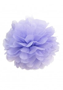 "Paper Flower Pom Pom - Lilac (Available in 6"" / 8"" / 10"" / 12"" / 14"" / 16"")"