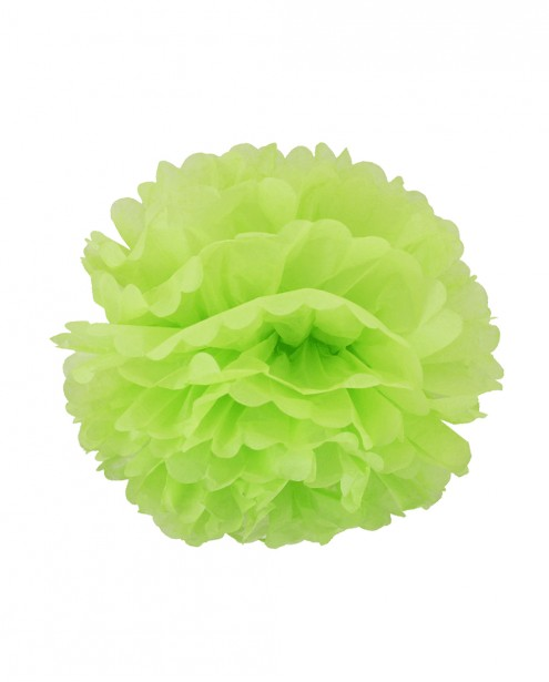 """Paper Flower Pom Pom - Lime Green (Available in 6"""" / 8"""" / 10"""" / 12"""" / 14"""" / 16"""")"""