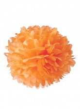 "Paper Flower Pom Pom - Orange (Available in 6"" / 8"" / 10"" / 12"" / 14"" / 16"")"