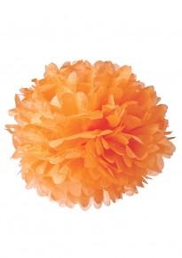 "Paper Flower Pom Pom - Orange (Available in 6"" / 8"" / 10"" / 12"" / 14"" / 16"")"