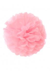 "Paper Flower Pom Pom - Pink (Available in 6"" / 8"" / 10"" / 12"" / 14"" / 16"")"