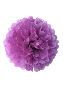 "Paper Flower Pom Pom - Purple (Available in 6"" / 8"" / 10"" / 12"" / 14"" / 16"")"