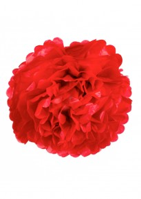 "Paper Flower Pom Pom - Red (Available in 6"" / 8"" / 10"" / 12"" / 14"" / 16"")"