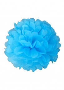 "Paper Flower Pom Pom - Sky Blue (Available in 6"" / 8"" / 10"" / 12"" / 14"" / 16"")"