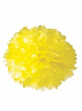 "Paper Flower Pom Pom - Yellow (Available in 6"" / 8"" / 10"" / 12"" / 14"" / 16"")"