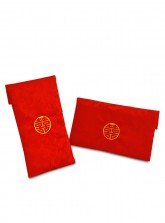 Embroidered Double Happiness Satin Red Envelope for Dowry 聘金