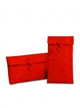 Embroidered Oriental-Dragon Satin Red Envelope for Dowry 聘金