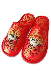 Marriage Room Slippers (Covered Toes) - Cartoon Bride