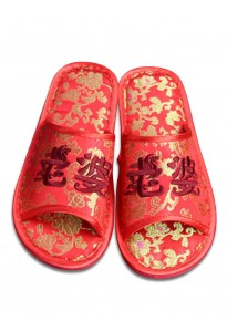 Marriage Room Slippers (Open Toes) - Bride