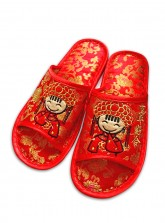 Marriage Room Slippers (Open Toes) - Cartoon Bride