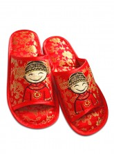 Marriage Room Slippers (Open Toes) - Cartoon Groom
